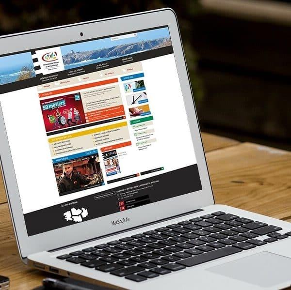 Affichage du site internet de la CRMA Bretagne sur PC