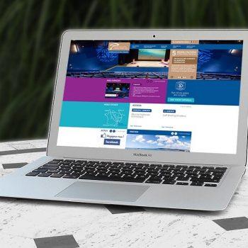 Affichage du site internet du Palais des Congrès d'Antibes sur PC