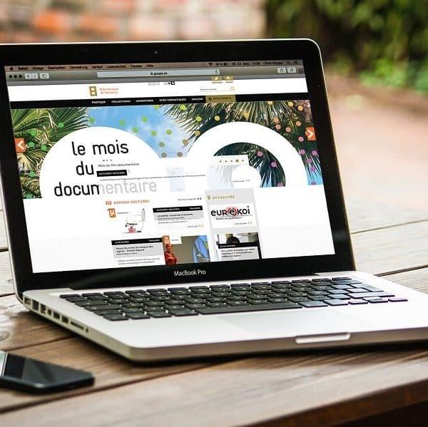 Affichage du site internet des bibliothèques de Toulouse sur PC