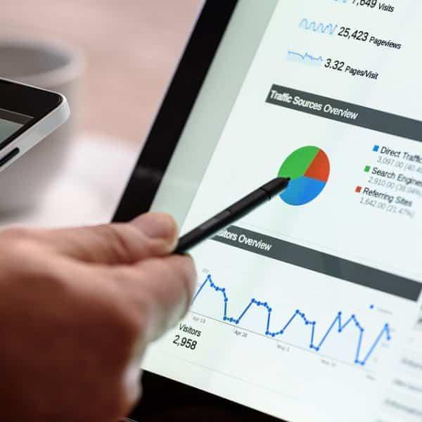 Référencement - Graphique Google Analytics