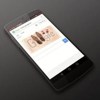 Recherche Google sur smartphone