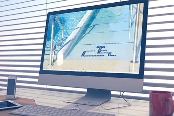 Accessibilité : logo handicap dans un écran d'ordinateur