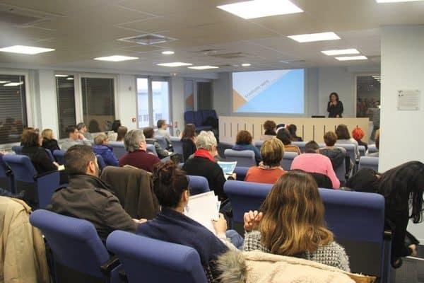 Conférence sur l'écriture web à la CCI du Tarn, à Albi