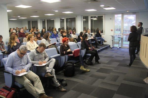 Le public de la conférence sur l'écriture web à la CCI du Tarn, à Albi