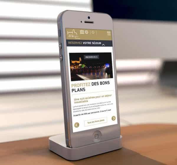 Site de l'office de tourisme d'Albi sur smartphone