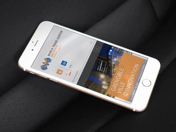 Site du World Trade Center Grenoble sur mobile