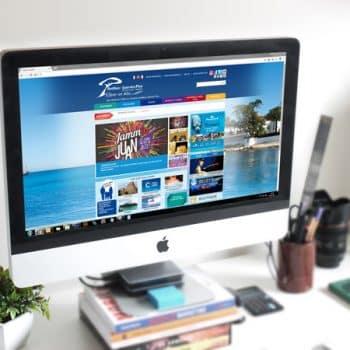 Site internet de l'Office de Tourisme d'Antibes Juan-les-Pins