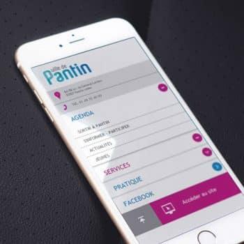 Site internet de la ville de Pantin sur mobile