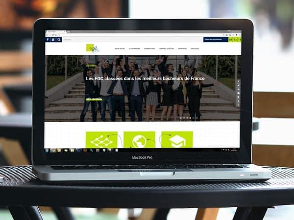 Site internet du Bachelor EGC