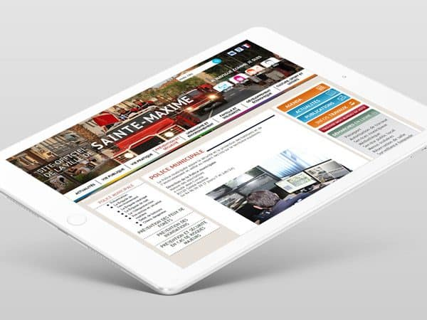 Site internet de la ville de Sainte-Maxime