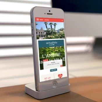 Site internet de la ville d'Arcachon sur mobile