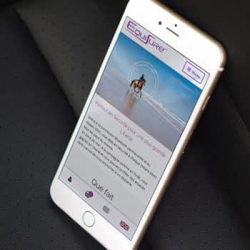 Site internet d'Equisure sur mobile