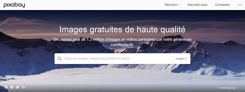 Banque d'images - Capture d'écran de Pixabay