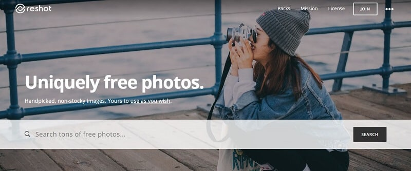 Banque d'images - Capture d'écran de Reshot