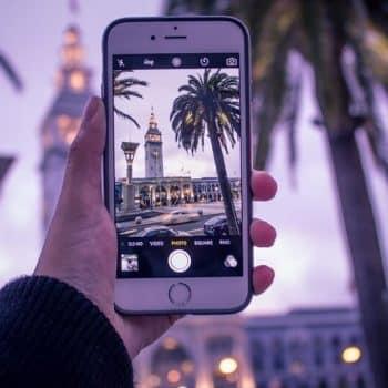Droit d'auteur - prise de vue avec un smartphone